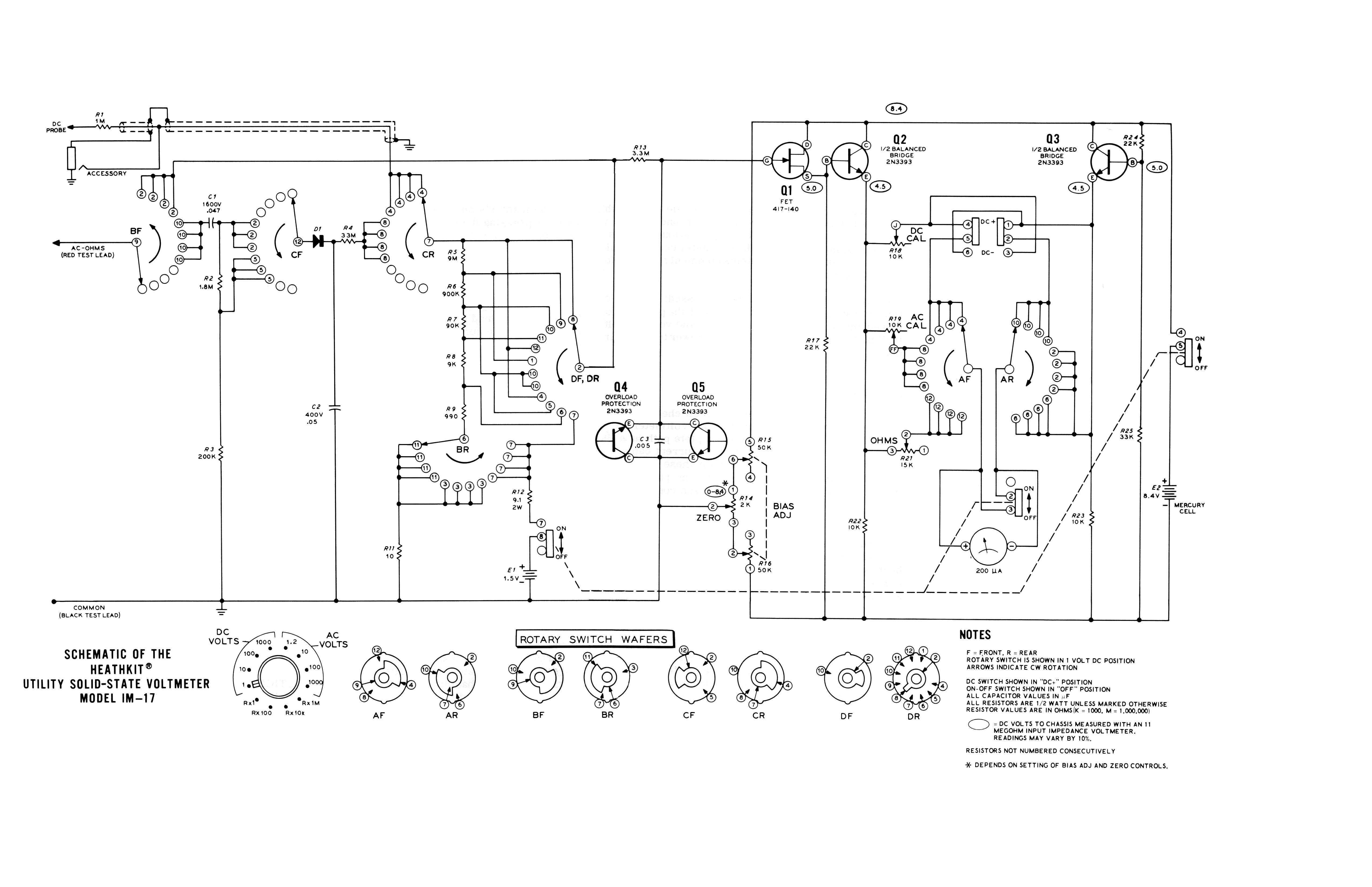 Hom Rev New Heath Of The Month 78 Im 17 Utility Solid State Fet Voltmeter Circuit Schematic Diagram Heathkit By Bob Eckweiler Af6c Elec
